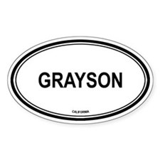 Grayson oval Oval Decal