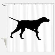 Pointer Dog On Point Shower Curtain