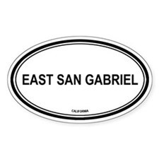 East San Gabriel oval Oval Decal