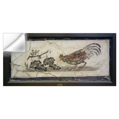 Cockerel and grapes, Roman fresco Wall Decal