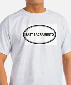 East Sacramento oval Ash Grey T-Shirt