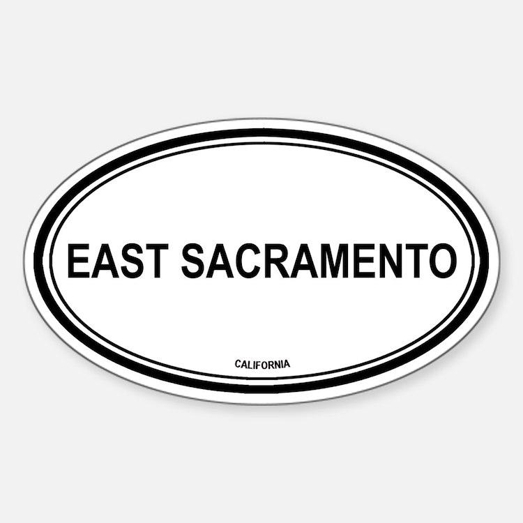 East Sacramento oval Oval Decal