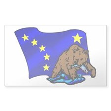 Alaskan Bear Flag Decal