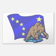 Alaskan Bear Flag Decal