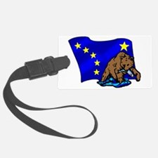 Alaskan Bear Flag Luggage Tag