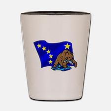 Alaskan Bear Flag Shot Glass