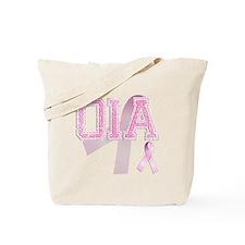 OIA initials, Pink Ribbon, Tote Bag
