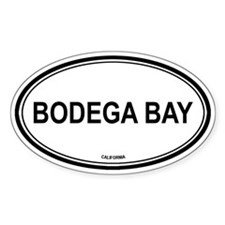 Bodega Bay oval Oval Decal