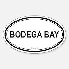 Bodega Bay oval Oval Decal