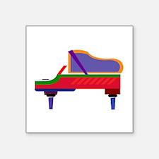 """Funky Piano Square Sticker 3"""" x 3"""""""