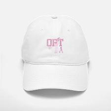 OFT initials, Pink Ribbon, Baseball Baseball Cap