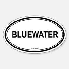 Bluewater oval Oval Decal