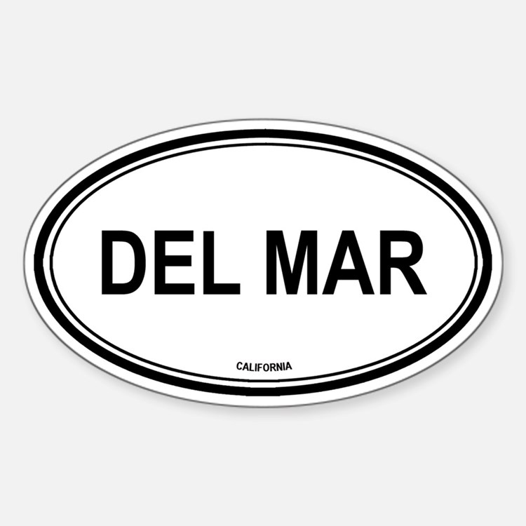 Del Mar oval Oval Decal
