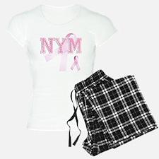 NYM initials, Pink Ribbon, Pajamas