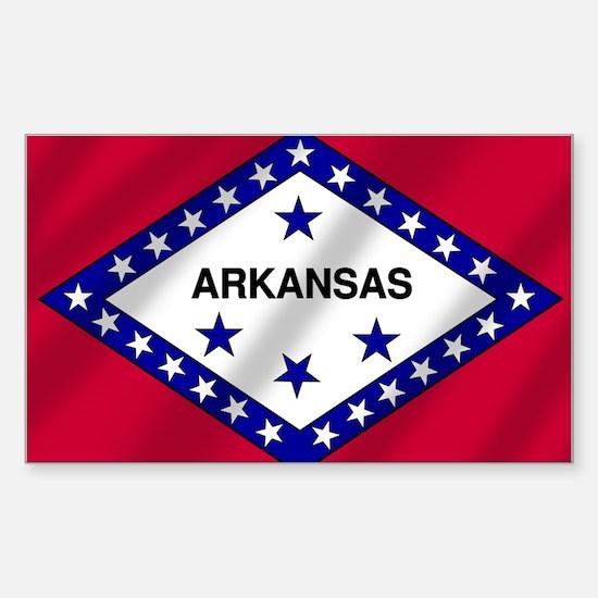 Arkansas State Flag Sticker (Rectangle)