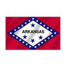 Arkansas State Flag Rectangle Car Magnet