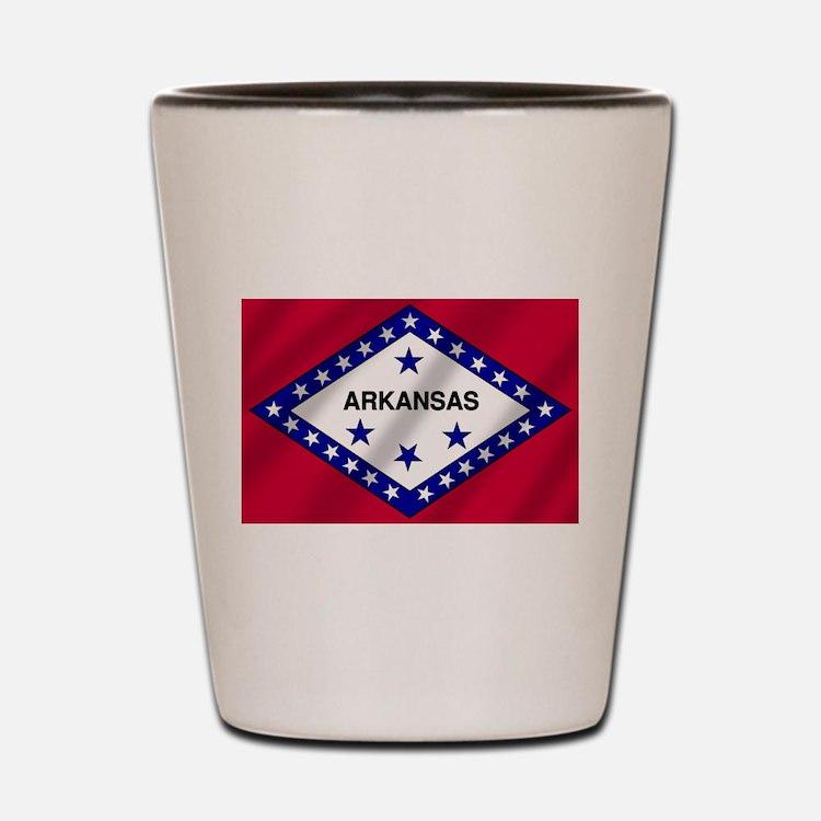 Arkansas State Flag Shot Glass