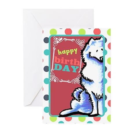 Samoyed Funny old dog Birthday Greeting Cards (Pk