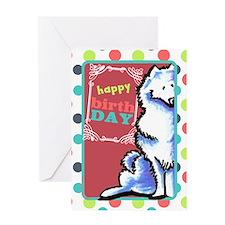 Samoyed Funny old dog Birthday Greeting Card