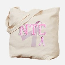 NTC initials, Pink Ribbon, Tote Bag