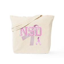 NSD initials, Pink Ribbon, Tote Bag