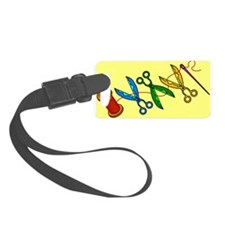Scissors Luggage Tag
