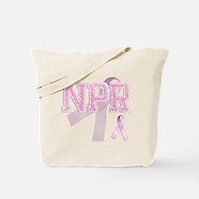 NPR initials, Pink Ribbon, Tote Bag