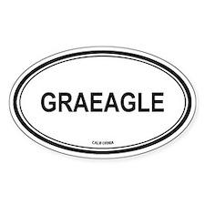 Graeagle oval Oval Decal