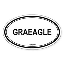 Graeagle oval Oval Decal