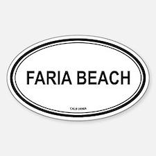 Faria Beach oval Oval Decal