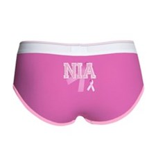 NIA initials, Pink Ribbon, Women's Boy Brief