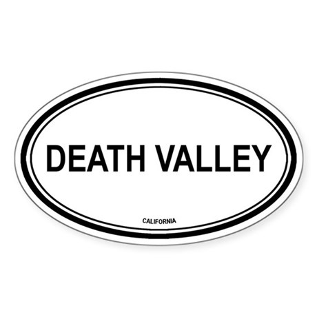 Death Valley oval Oval Sticker