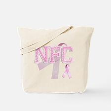 NFC initials, Pink Ribbon, Tote Bag
