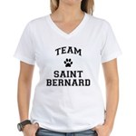 Team Saint Bernard Women's V-Neck T-Shirt