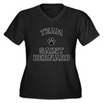 Team Saint Bernard Women's Plus Size V-Neck Dark T