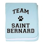 Team Saint Bernard baby blanket