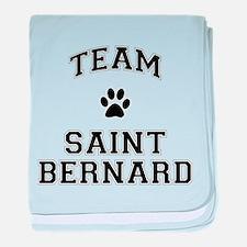 Team Saint Bernard baby blanket