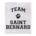 Team Saint Bernard Throw Blanket