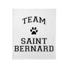 Team Saint Bernard Throw Blanket