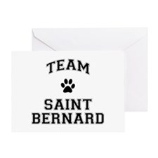 Team Saint Bernard Greeting Card
