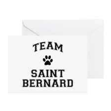 Team Saint Bernard Greeting Cards (Pk of 10)