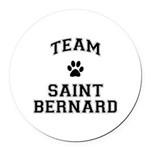 Team Saint Bernard Round Car Magnet