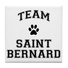Team Saint Bernard Tile Coaster