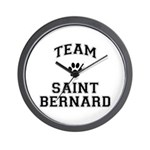 Team Saint Bernard Wall Clock