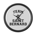 Team Saint Bernard Large Wall Clock