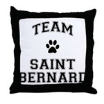 Team Saint Bernard Throw Pillow