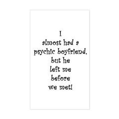 Psychic Boyfriend Rectangle Decal