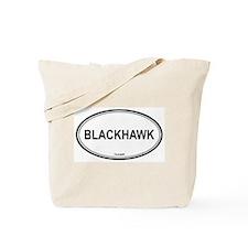 Blackhawk oval Tote Bag