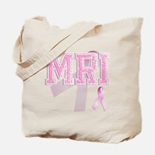 MRI initials, Pink Ribbon, Tote Bag