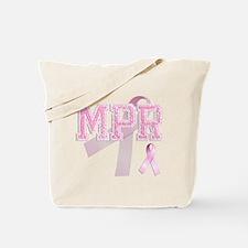 MPR initials, Pink Ribbon, Tote Bag